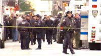 Midtown Manhattan, where a suspicious package was found.