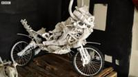 Bike made from bones and scrap metal