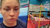 World champion boxer Lauren Price reveals the new safety measures at GB Boxing's Sheffield training gym