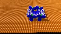 "A computer generated image of a ""nano-car"""