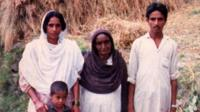 Basant Kor with her family