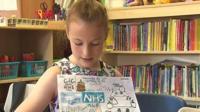 Cari, 11, imagines a health service with 'a lot of robots'
