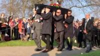 Keith Flint's coffin