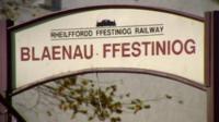 Blaenau Ffestiniog sign