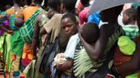 Mozambican refugees at a MSF clinic in Malawi, on February 15, 2016.