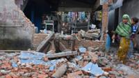 Aftermath of Lombok earthquake