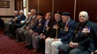 Several of the World War Two veterans attended the ceremony in person to collect their medal