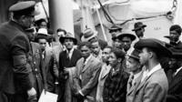 Passengers of the Windrush ship in 1948