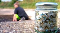 A jar of nurdles