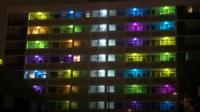 Lights outside flats