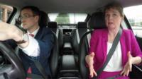 Chris Mason and Yvette Cooper in car