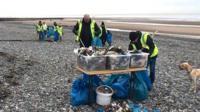 Rossall Beach clean