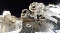 Tim Peake during spacewalk