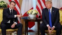 Macron and Trump