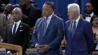 Speakers at Aretha's funeral