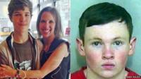Breck Bednar, 14, (pictured left with his mother Lorin LaFave) was fatally stabbed by Lewis Daynes (right)