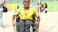 Person in wheelchair at Paralympics
