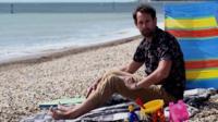 Ben on beach