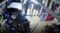 Vehicle crashed into supermarket