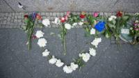Flowers for those killed and injured in the attack in Manchester