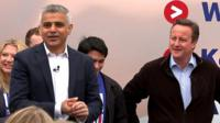 Sadiq Khan and David Cameron