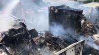 Fire-hit hotel interior