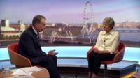 PM Theresa May on The Andrew Marr Show