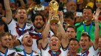 Germany lifting the Fifa World Cup