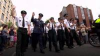 Uniformed police officers participated in Belfast's annual Pride parade for the second year in a row.