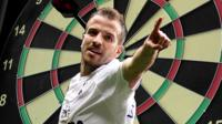 Rafael van der Vaart's body on a darboard