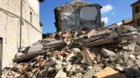Earthquake damage in Arquata del Tronto