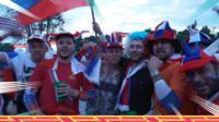 Russia fans in Sochi
