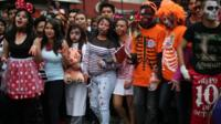 A zombie walk in Mexico City