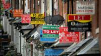To let signs on a street in Birmingham