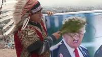 Four shamans gathered on a hill in the capital Lima to implore the countries' leaders to make peace.