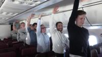 Exercises on board plane