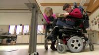 Matthew, who has cerebral palsy