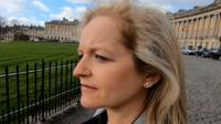 Nicola Taylor looking out over Bath Crescent