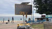 Sign at Sydney beach