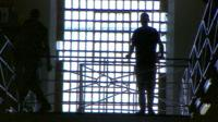 Silhouette of inmate