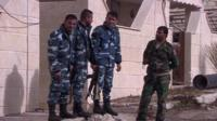 Syrian army troops in Salma, Syria