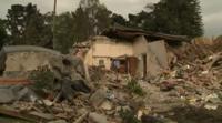 Руины здания, разрушенного землетрясением