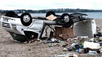 Ураган обрушился на побережье Халкидики внезапно.