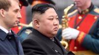 North Korean leader Kim Jong-un arrives in Vladivostok ahead of Thursday's talks with Russian President Vladimir Putin.