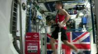 Tim Peake running in the ISS