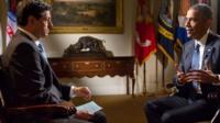 Jon Sopel speaks to Barack Obama