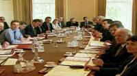Tony Blair chairing Cabinet meeting