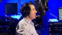 Nick Grimshaw in his BBC studio