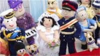 The community group has recreated the royal wedding scene, even down to the corgis.