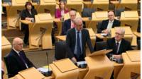 John Swinney, Lord Advocate James Wolffe and Mike Russell